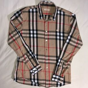 Burberry Brit Classic Check Button Up